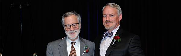 Mark Munetz, M.D., and Peg's Foundation President Rick Kellar