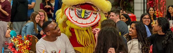 Students at the Lunar New Year celebration