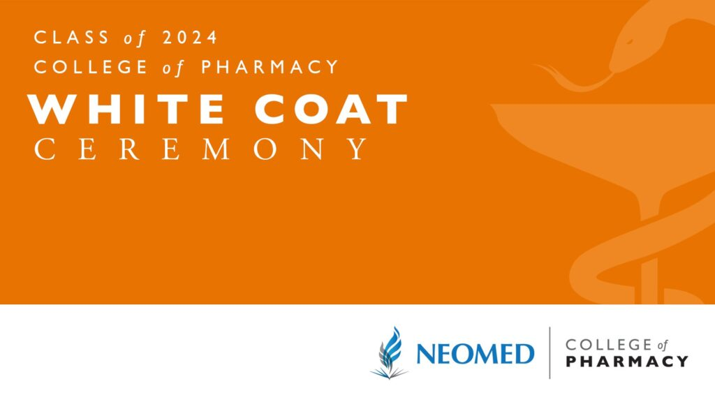 image of the college of pharmacy class of 2024 white coat ceremony logo