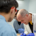 Dr. Chris Vinyard working with students