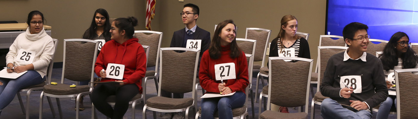 Students at the Brain Bee competition