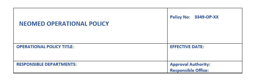 Operational policy header example