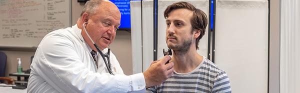 Dr. Lecat using the Ventriloscope