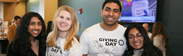 Students on NEOMED Giving Day