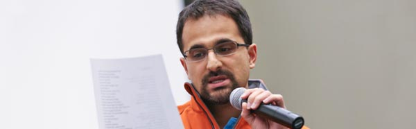 Diagnostic nuclear radiologist and Ohio poet laureate, Amit Majmudar, M.D. ('03)