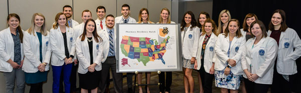 NEOMED Pharmacy students at Match Celebration