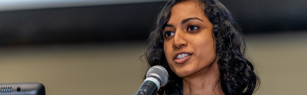 Nikita Raman, third place winner of the William Carlos Williams Poetry Competition