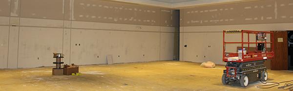 interior construction on campus
