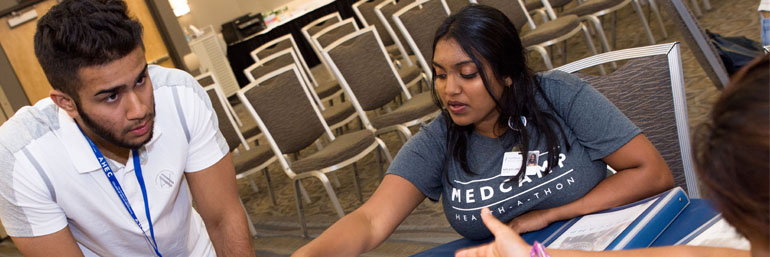 MEDCAMP Health-A-Thon winning team