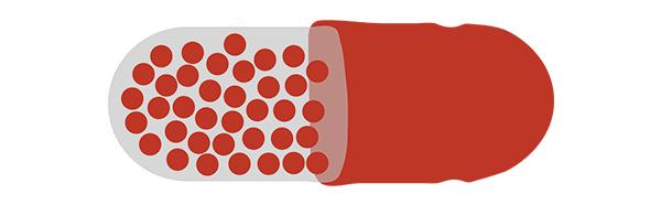 illustration of a medicine capsule