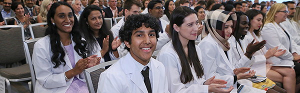 First year medical students at the White Coat Ceremony