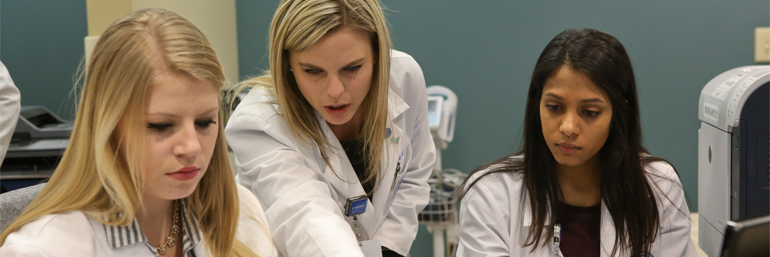 Students working in SOAR Student Run Free Clinic