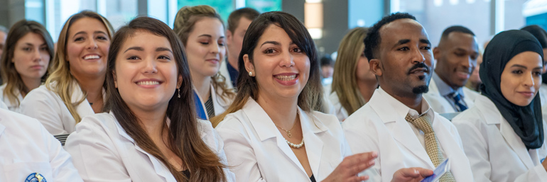 College of Pharmacy students at White Coat Ceremony