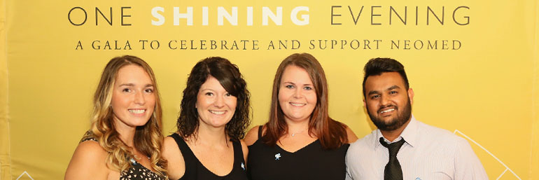 NEOMED students at One Shining Evening Gala