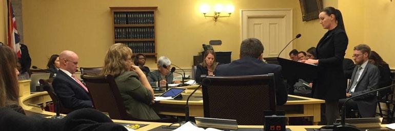 Officer Kelly DiBona testifying