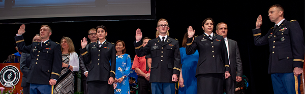NEOMED students entering military service upon graduation