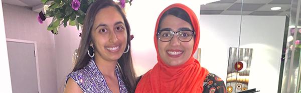 College of Medicine students Sheela Vaswani and Sanaa Mansoor