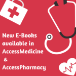 new ebooks in accessmedicine and accesspharmacy